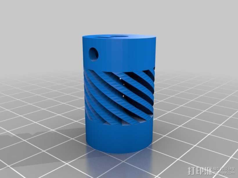 Prusa i3打印机的Z耦合器 3D打印模型渲染图
