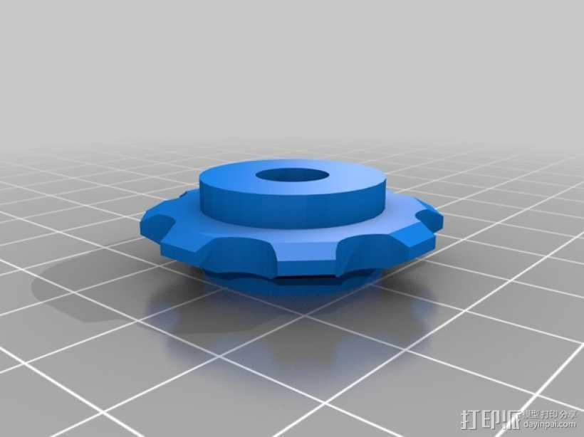 链轮齿 齿轮 3D打印模型渲染图