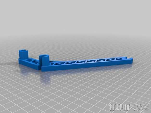线轴支撑臂 3D打印模型渲染图