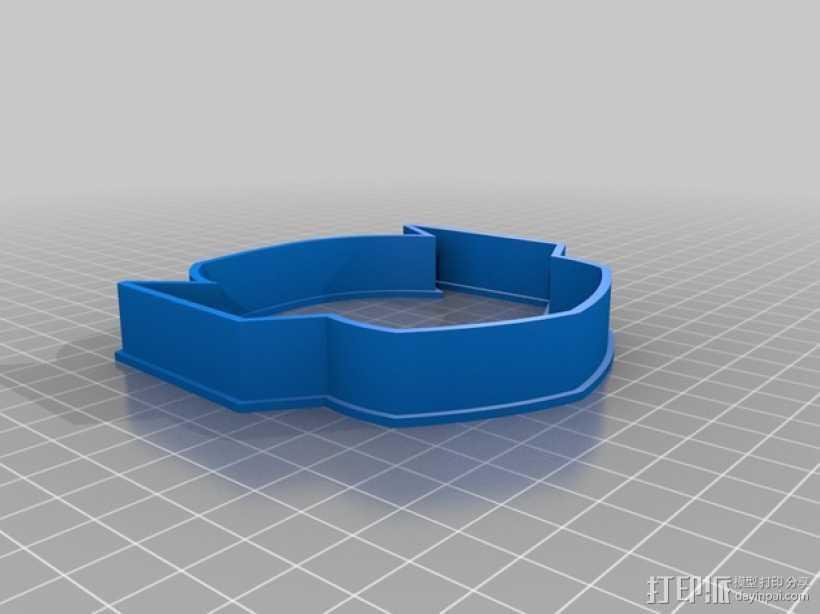 Thanos形状的饼干切割器 3D打印模型渲染图