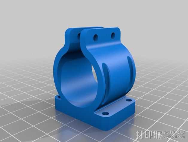 激光器固定夹 3D打印模型渲染图