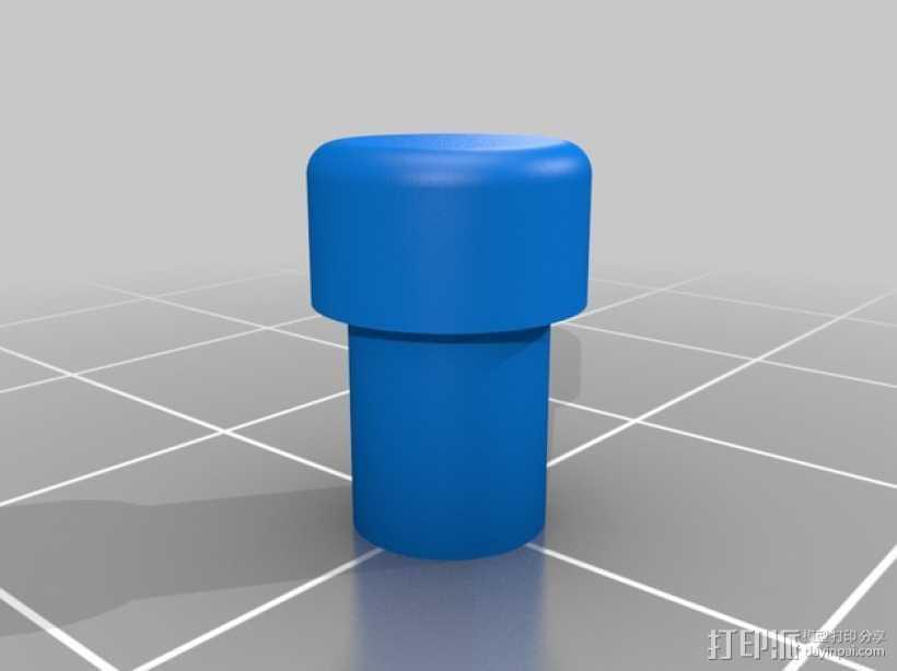 LED 灯管 3D打印模型渲染图