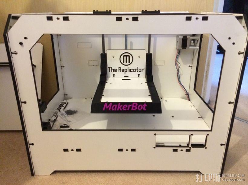 Makerbot Replicator打印机的边框支架 3D打印模型渲染图