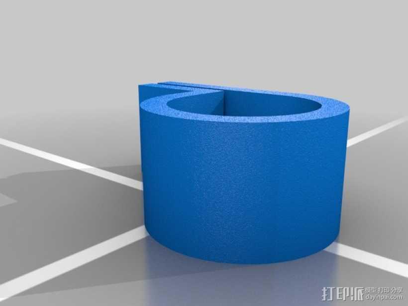 轴承夹 轴承套管 3D打印模型渲染图