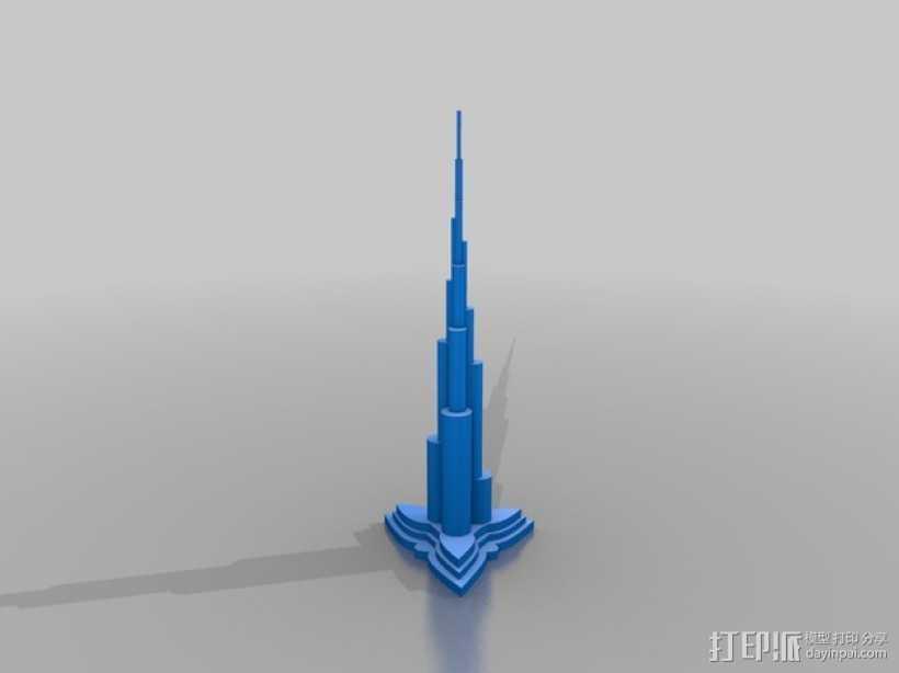 迪拜塔 建筑模型 3D打印模型渲染图