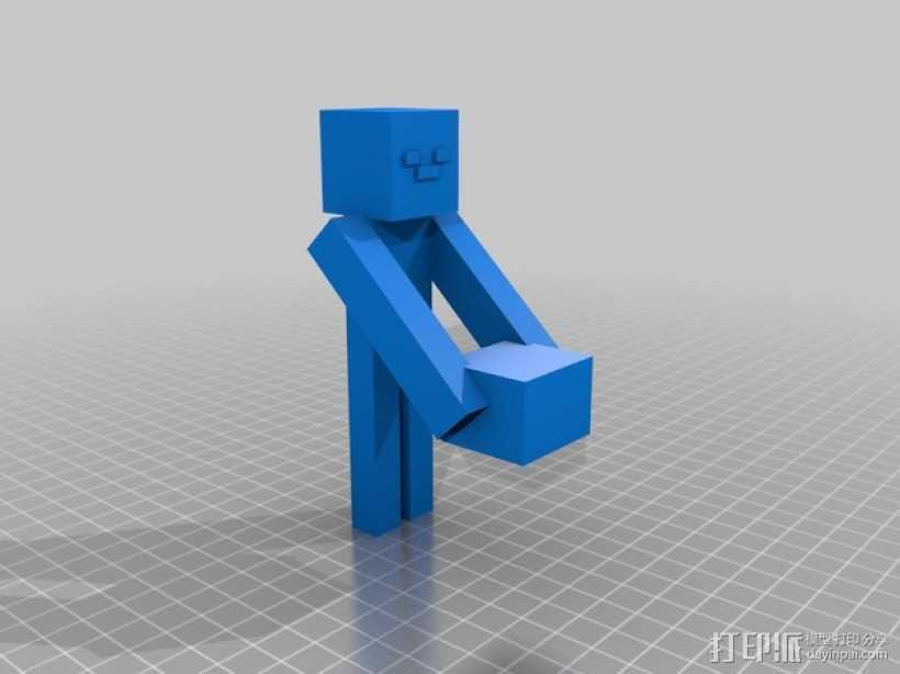 末影人 游戏造型 3D打印模型渲染图