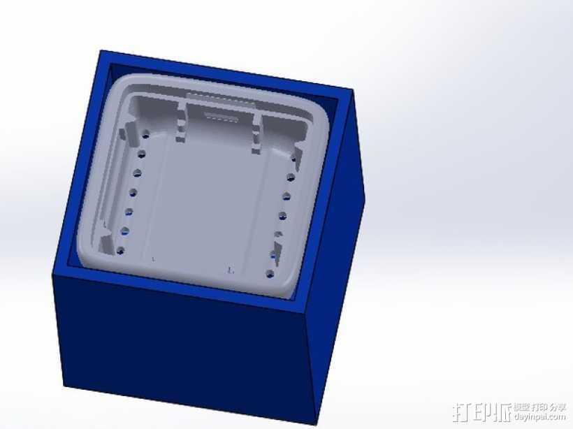 MicroView 外盒 3D打印模型渲染图