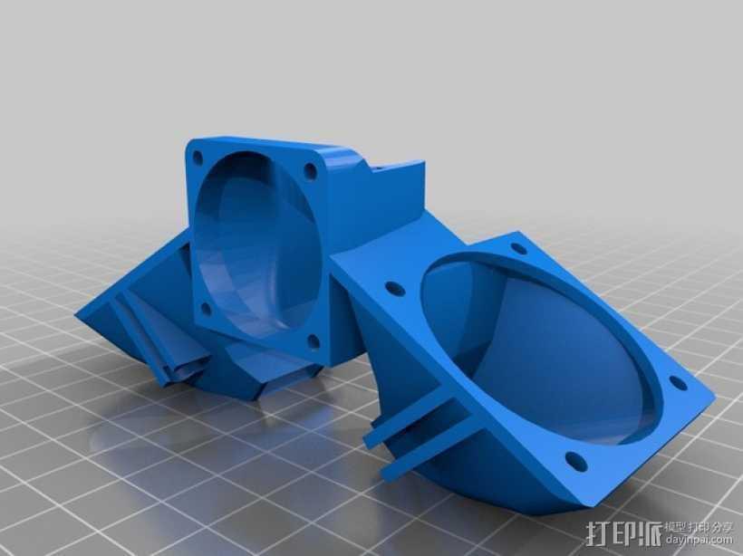 E3D 喷头风扇 3D打印模型渲染图