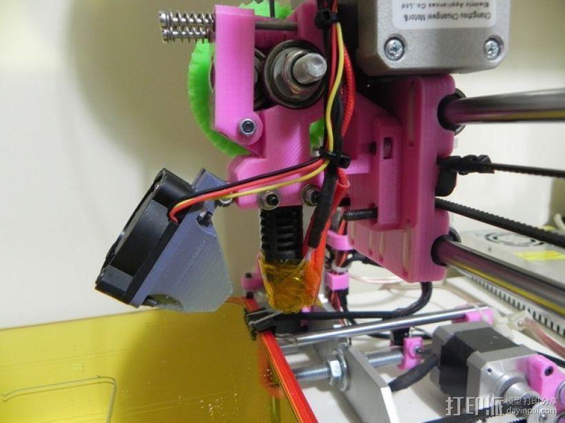 Prusa i3打印机的风扇通风导管 3D打印模型渲染图