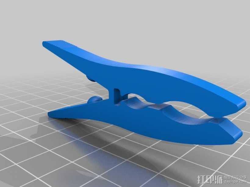 晾衣夹 晾晒夹  夹子 3D打印模型渲染图