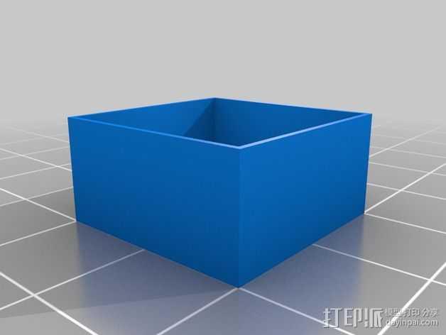 层厚打印测试 3D打印模型渲染图