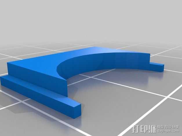 自动调平器马达支架 3D打印模型渲染图