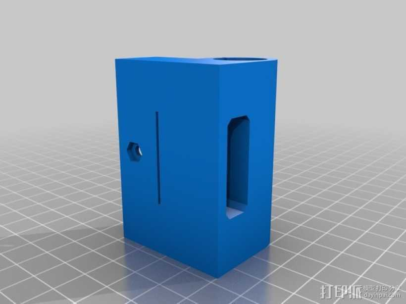 Prusa i3 X轴的轴承部件 3D打印模型渲染图