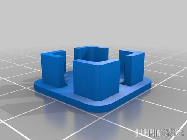 RigidBot打印机的轴杆盖帽 3D打印模型渲染图