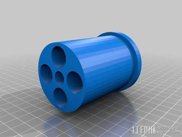 Rigidbot 打印机的线轴适配器 3D打印模型渲染图