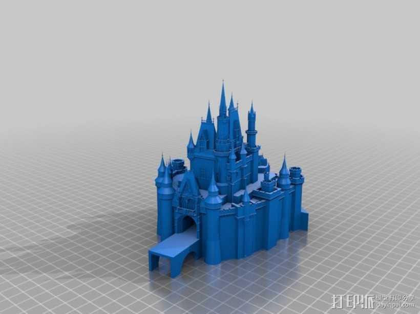 迪士尼城堡 建筑模型 3D打印模型渲染图