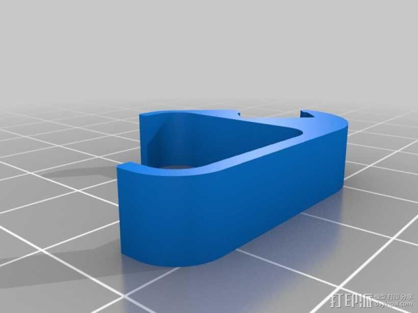 发光二极管固定夹 3D打印模型渲染图