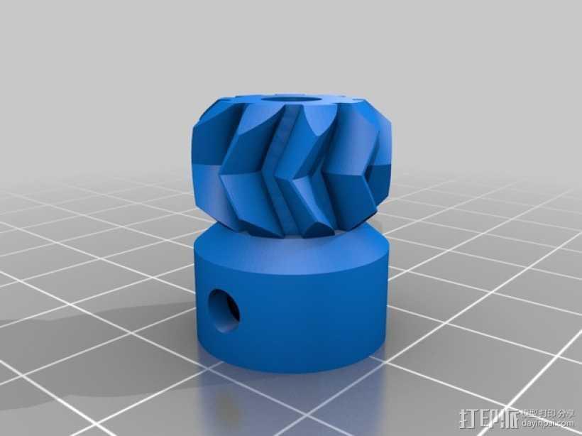 Greg挤出机配件 3D打印模型渲染图