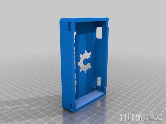 Printrbot Simple 打印机的电路板外罩 3D打印模型渲染图