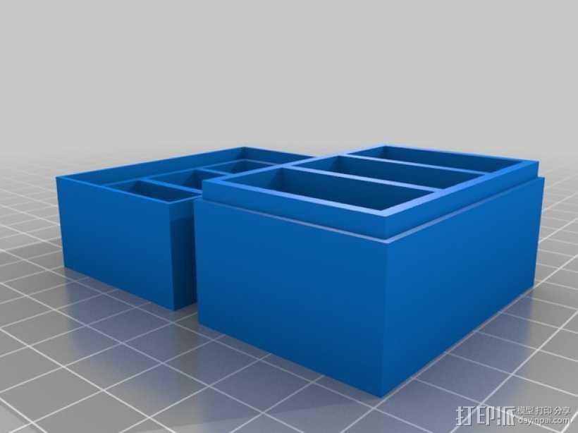 Gopro相机电池收纳盒 3D打印模型渲染图