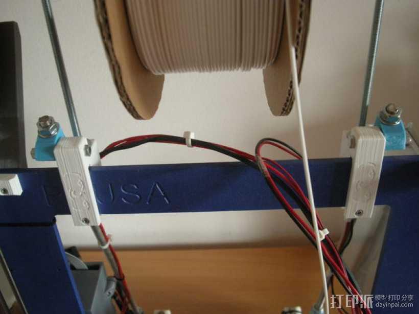 Prusa i3 打印机的撑脚和线轴支架 3D打印模型渲染图