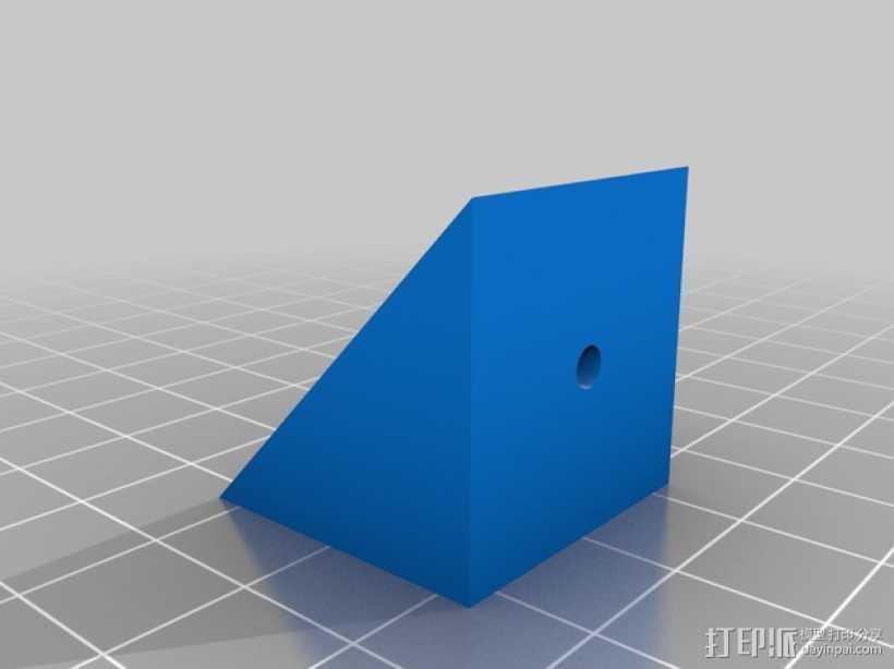 坚固的L形支架 3D打印模型渲染图