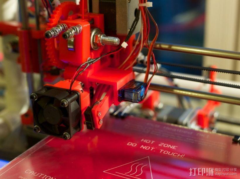 Prusa i3打印机的马达支架 3D打印模型渲染图