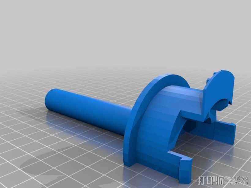Ultimaker 2打印机的线轴支架 3D打印模型渲染图