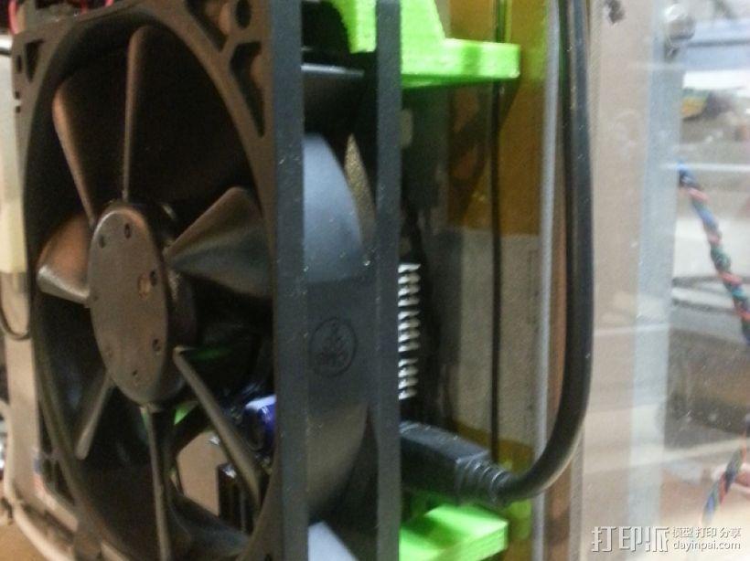 Solidoodle 3打印机的电路板散热风扇 3D打印模型渲染图