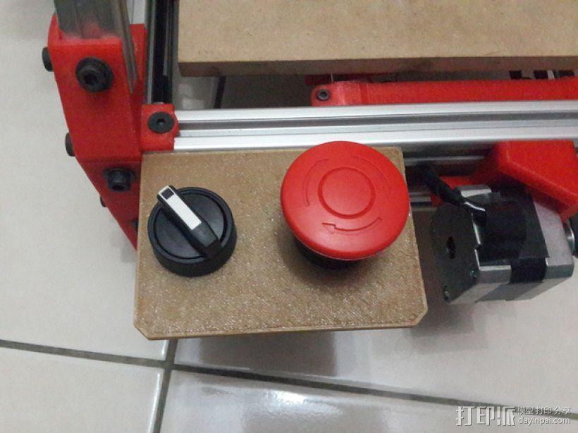 Mendelmax 1.5打印机的紧急停止开关和选择开关 3D打印模型渲染图