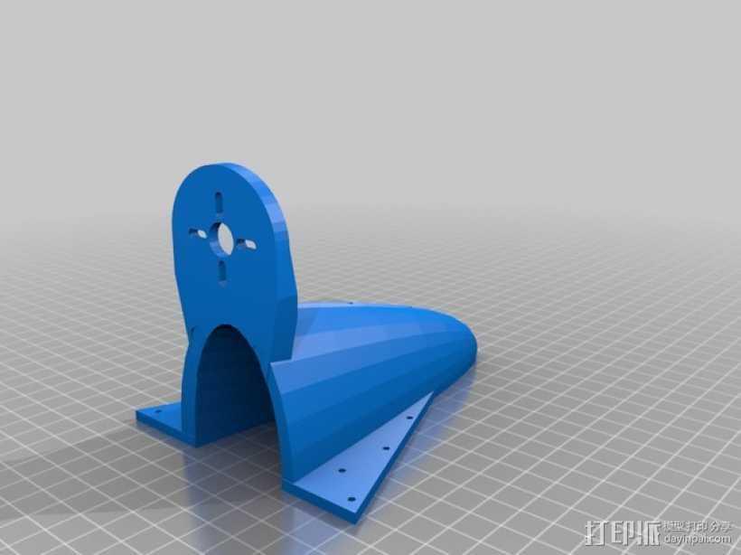 空气动力马达支架 3D打印模型渲染图