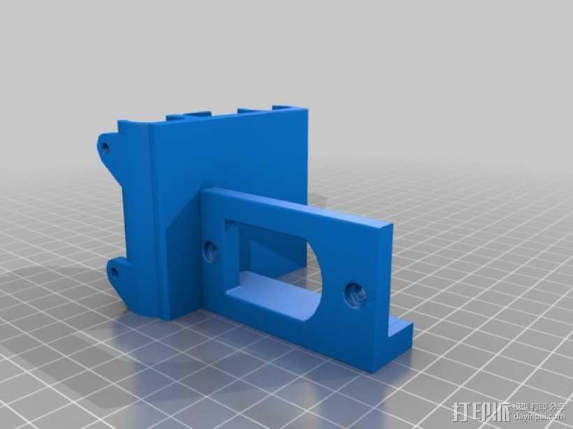 Bulldog 挤出机的支架 3D打印模型渲染图
