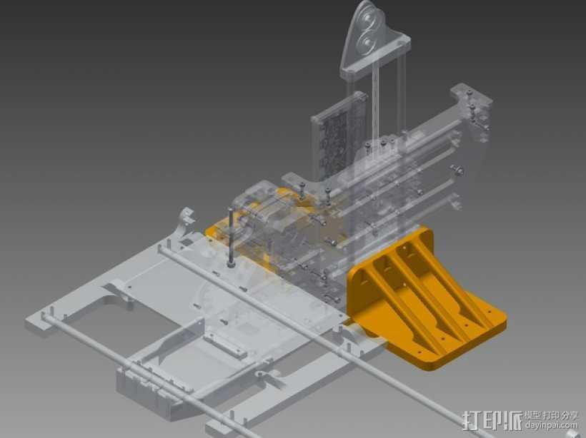 Printrbot Simple打印机底垫 3D打印模型渲染图