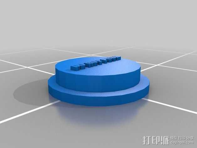 按钮  3D打印模型渲染图