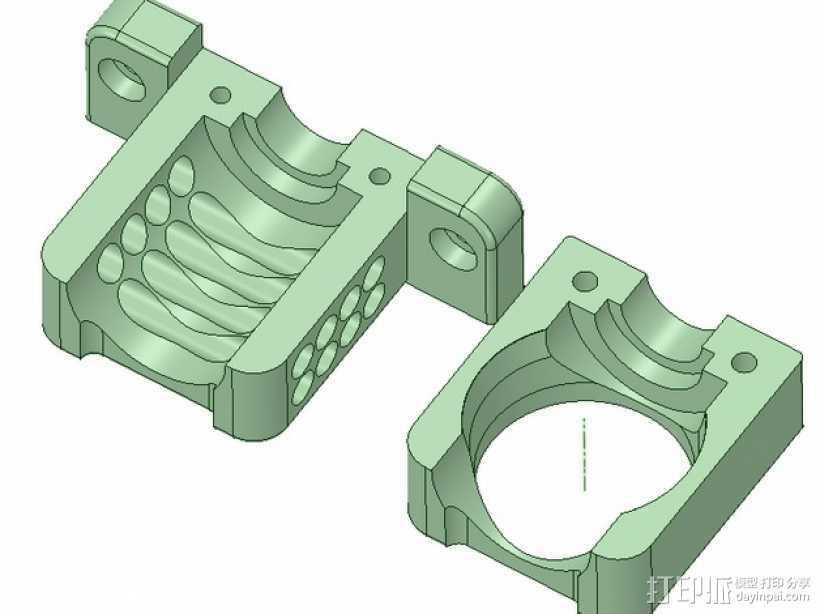 E3D喷头风扇 3D打印模型渲染图