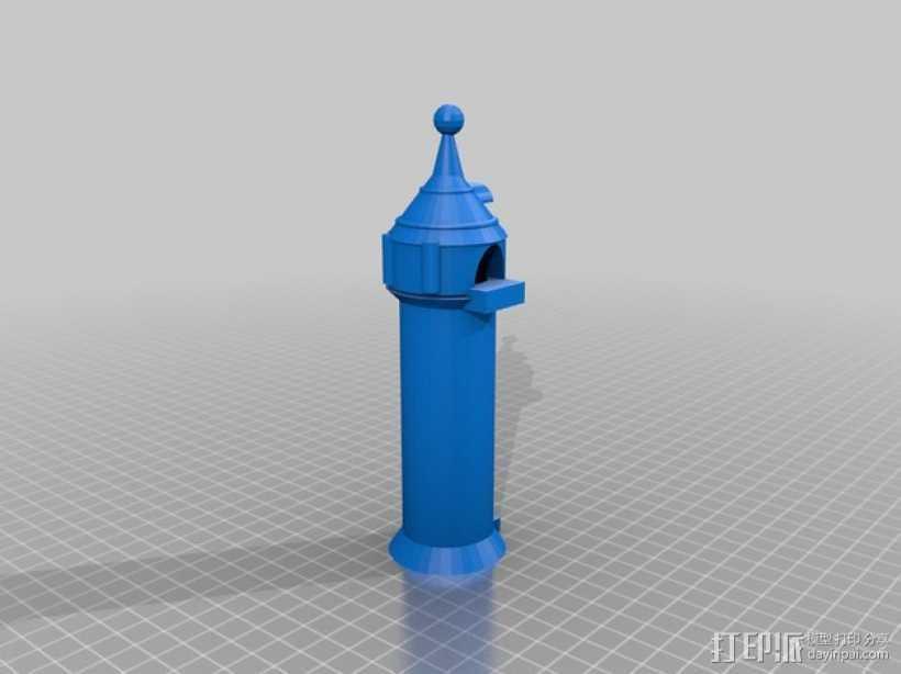 迪士尼长发公主的塔 3D打印模型渲染图