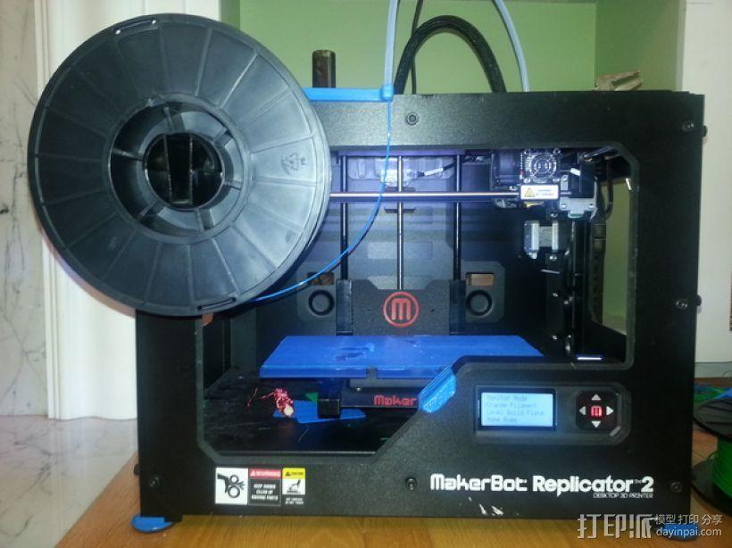MakerBot Replicator 2 打印机的线轴支架 3D打印模型渲染图