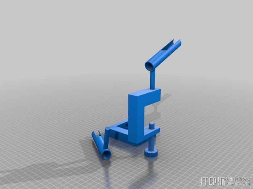 星级高清喷枪支架 3D打印模型渲染图