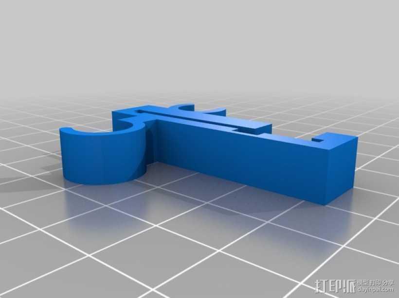 Prusa i3 Y轴的限位开关 3D打印模型渲染图