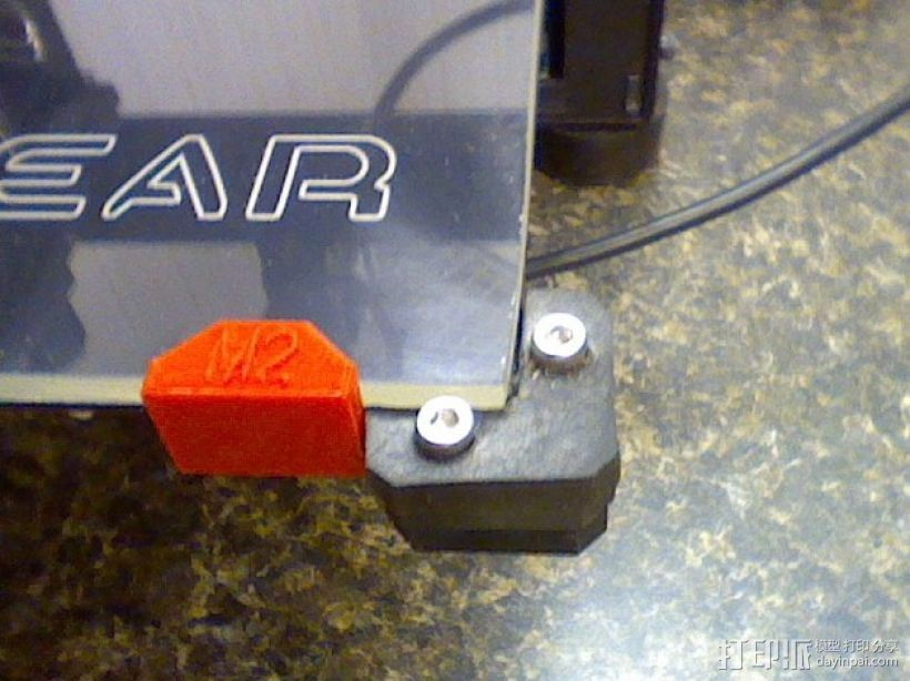 MakerGear M2打印机构建板固定夹 3D打印模型渲染图