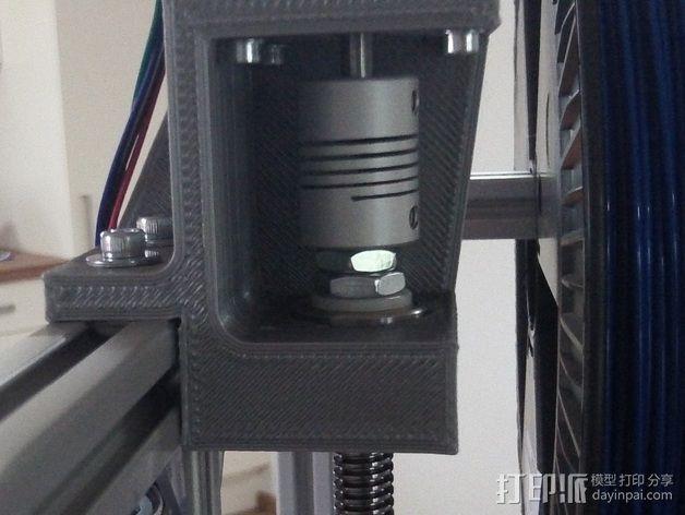 NEMA17马达支架 耦合器 轴承 3D打印模型渲染图