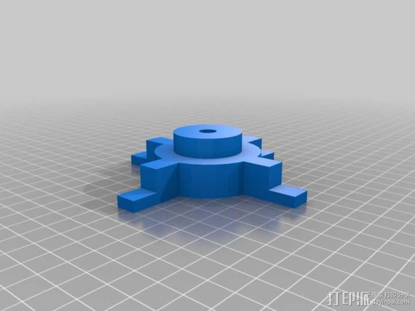 Mendel prusa i2打印机的线轴支架 3D打印模型渲染图