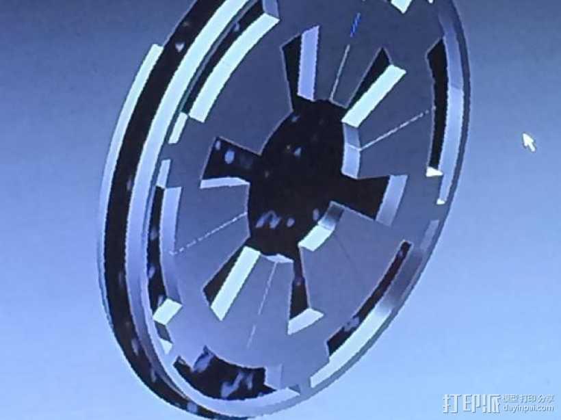 Rebel/Imperial 大奖章 徽章 3D打印模型渲染图