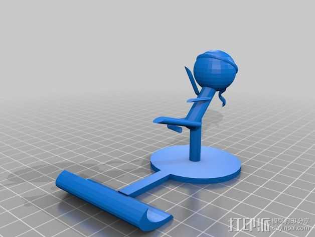 iPad平板电脑支撑架 3D打印模型渲染图