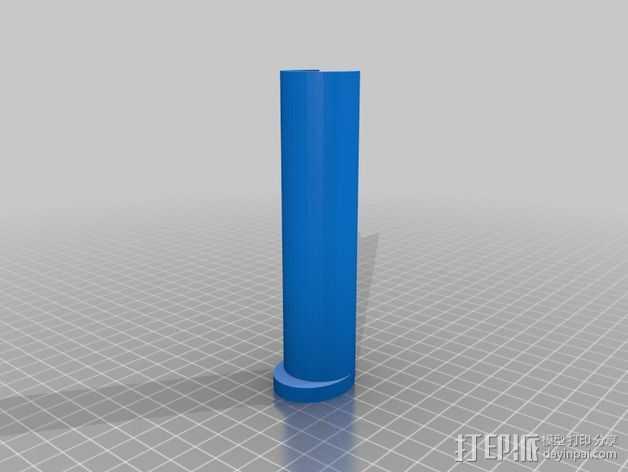 Printrbot Simple Metal 打印机线轴支架的中心轴 3D打印模型渲染图