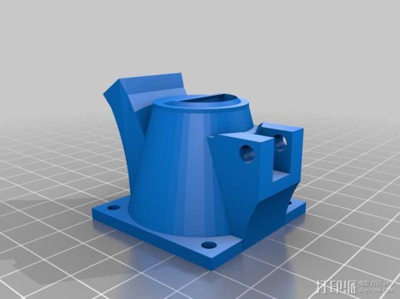 挤出机风扇通风导管 3D打印模型渲染图