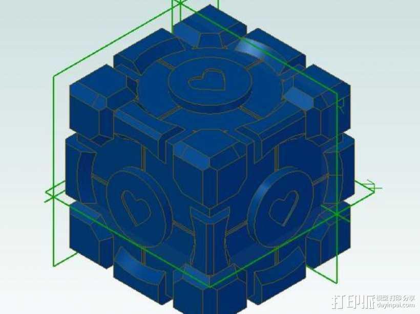 传送门方块 3D打印模型渲染图