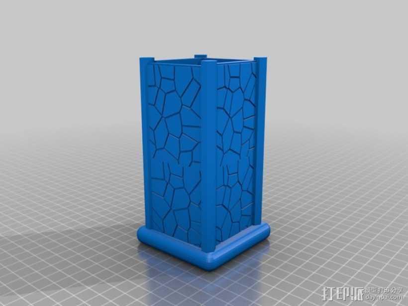 笔筒 笔架 3D打印模型渲染图