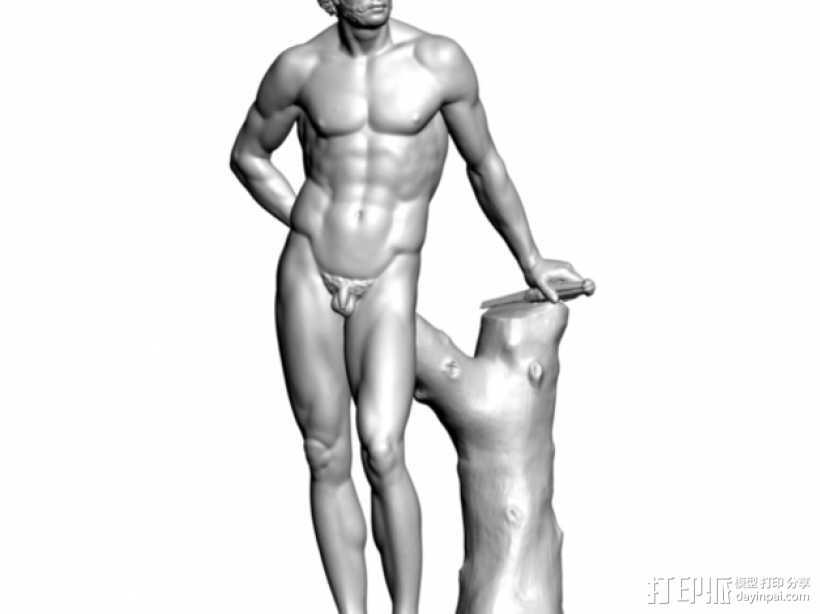Mars雕塑模型 3D打印模型渲染图