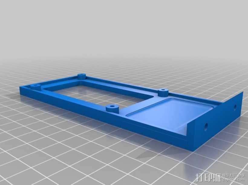 Kossel mini 打印机的电路板支架 3D打印模型渲染图